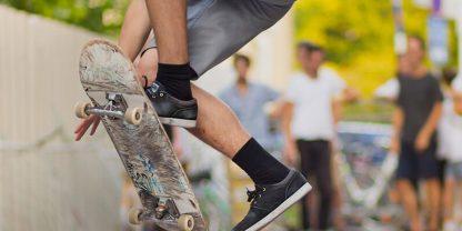 Prova på skateboard